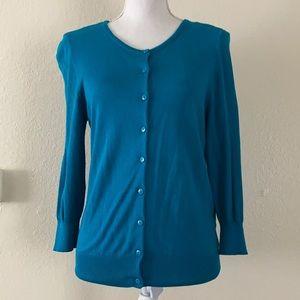 Cardigan 3/4 sleeve turquoise